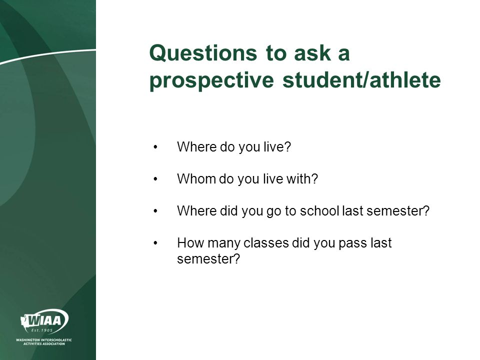Refer to the Eligibility Q & A Handout Eligibility Q & A
