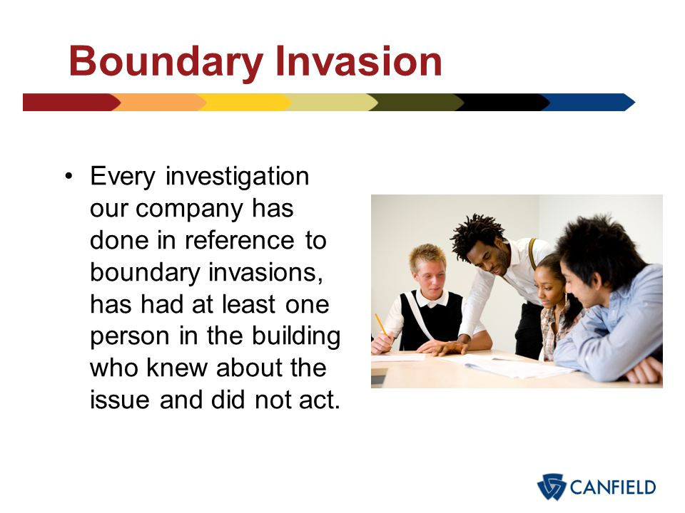 Boundary Invasion Nearly every incident started with text messaging-IM or email. What is your district policy on: –Text students –Emailing students –T