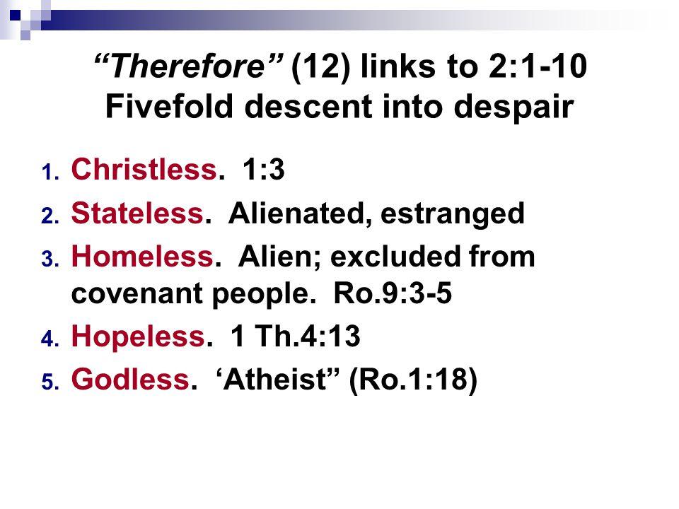 I.Their Despair, Ep.2:11-13 III. Their Description, Ep.2:16,19-22 II.