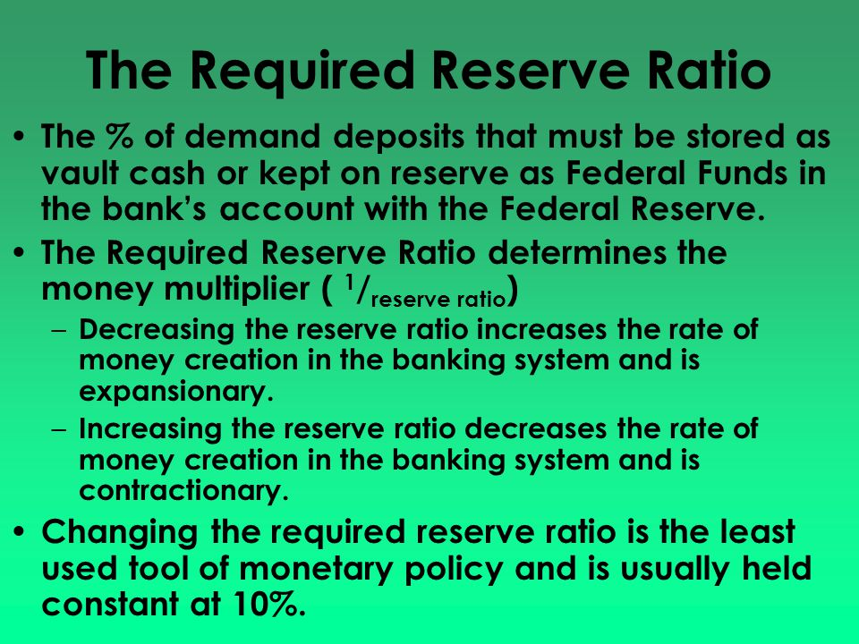 Contractual Clearing Balance Even though some deposits are not subject to the reserve requirement, banks may contract with the fed to maintain a clearing balance in order to have the funds necessary to clear transactions at the end-of-day.