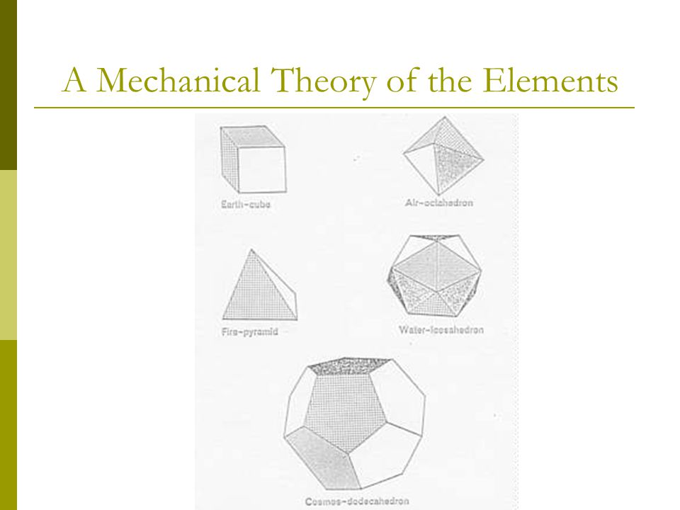 A Mechanical Theory of the Elements