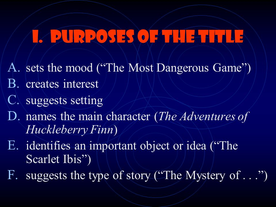 Elements of Fiction Plot Theme Setting Characterization Point of View Conflict