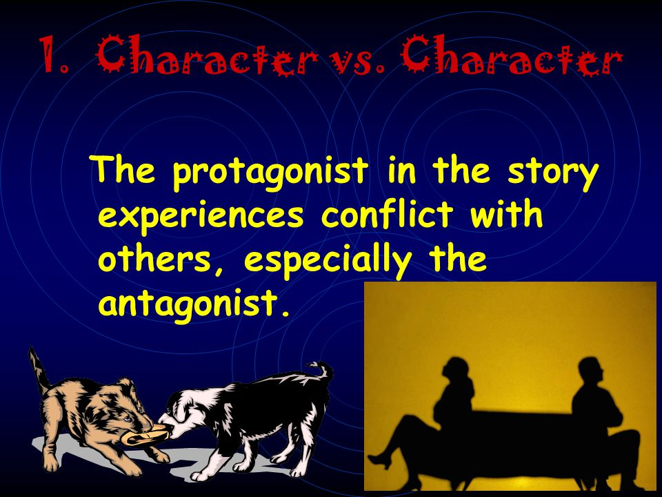 C.External Conflict (three main types) character vs. character character vs. society character vs. nature