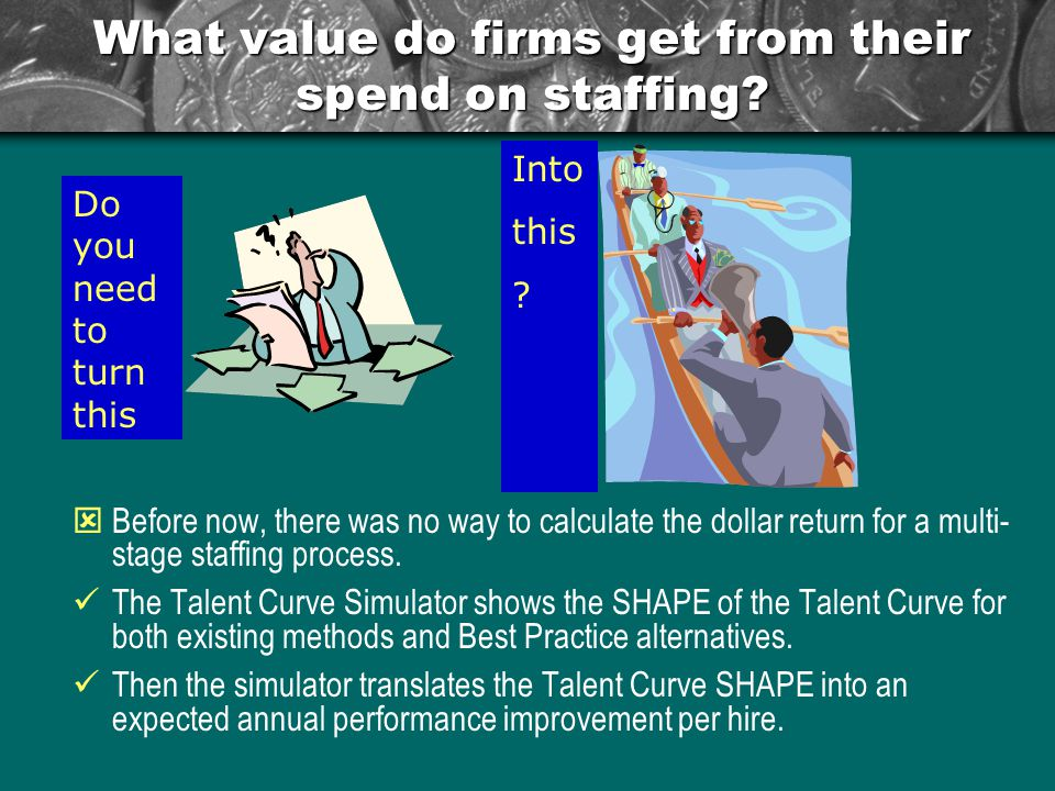 What value do firms get from their spend on staffing.