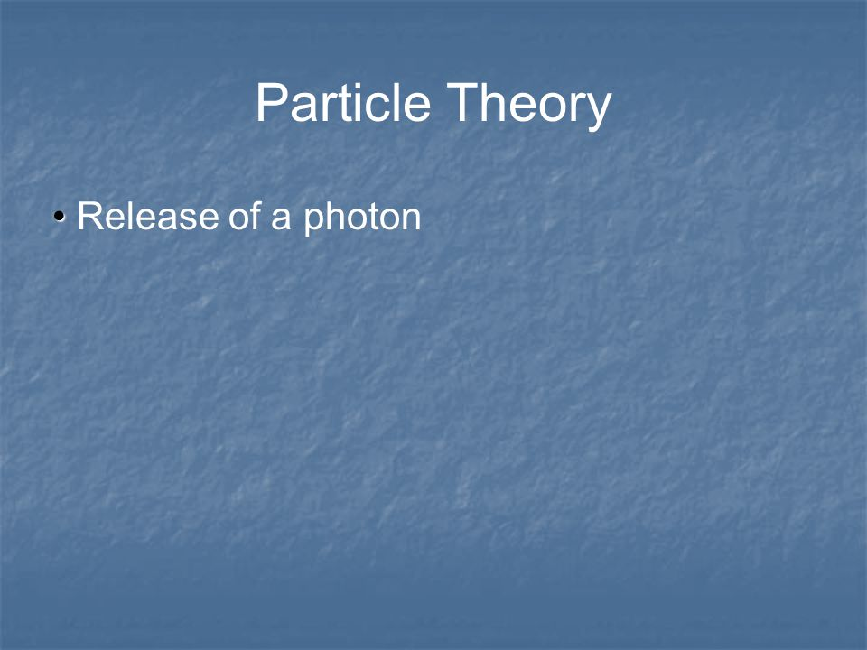 Theory of Light Two complimentary theories to explain how light behaves and the form by which it travels: Particle Theory Wave Theory