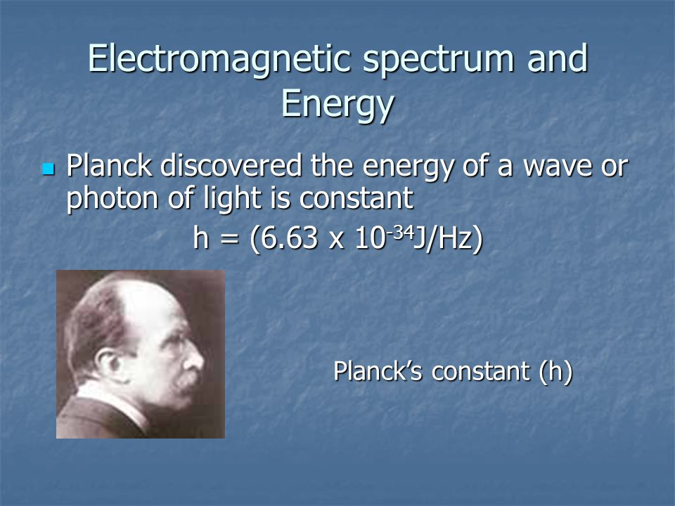 """Planck's Quantum Theory In 1900, German Physicist Max Planck proposed: """"Radiant energy may only be absorbed or emitted in discrete amounts: quanta."""""""