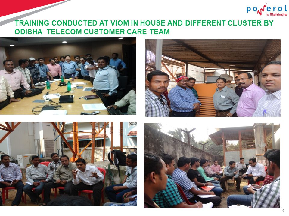 3 TRAINING CONDUCTED AT VIOM IN HOUSE AND DIFFERENT CLUSTER BY ODISHA TELECOM CUSTOMER CARE TEAM Copy xyz