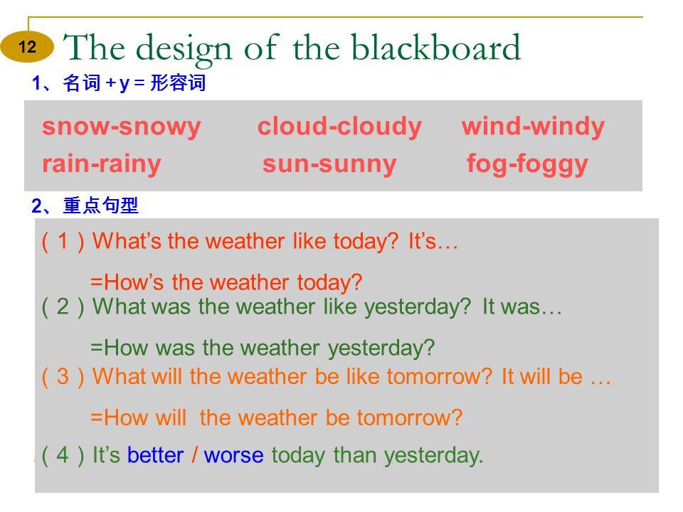 Homework 11 1 、完成 Activity 5 on page 82. 2 、收看 CCTV9 记下近几天世界各 大城市的天气预报,然后用英语写 一篇天气预报,下一堂课表演。