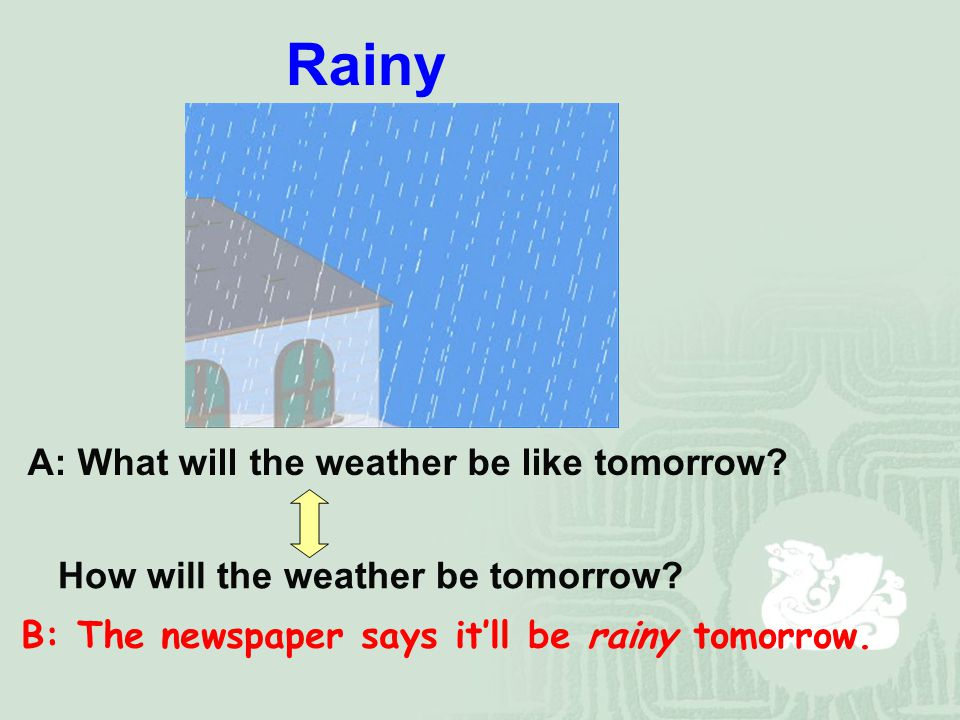 A: What was the weather like yesterday. How was the weather yesterday.