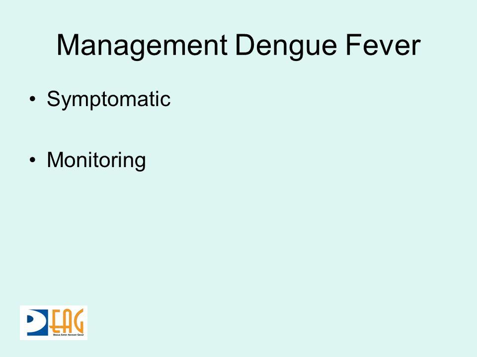 Management Dengue Fever Symptomatic Monitoring