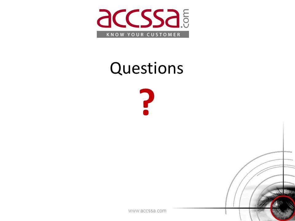 Questions ? www.accssa.com