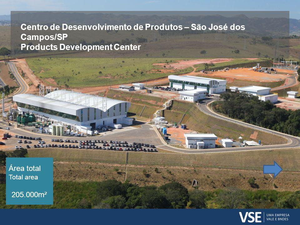 Centro de Desenvolvimento de Produtos – São José dos Campos/SP Products Development Center Área total Total area 205.000m²