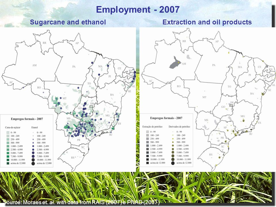 Sugarcane and ethanolExtraction and oil products Source: Moraes et.