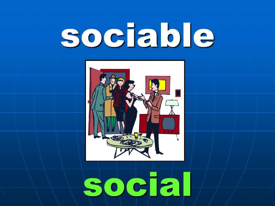 sociable social