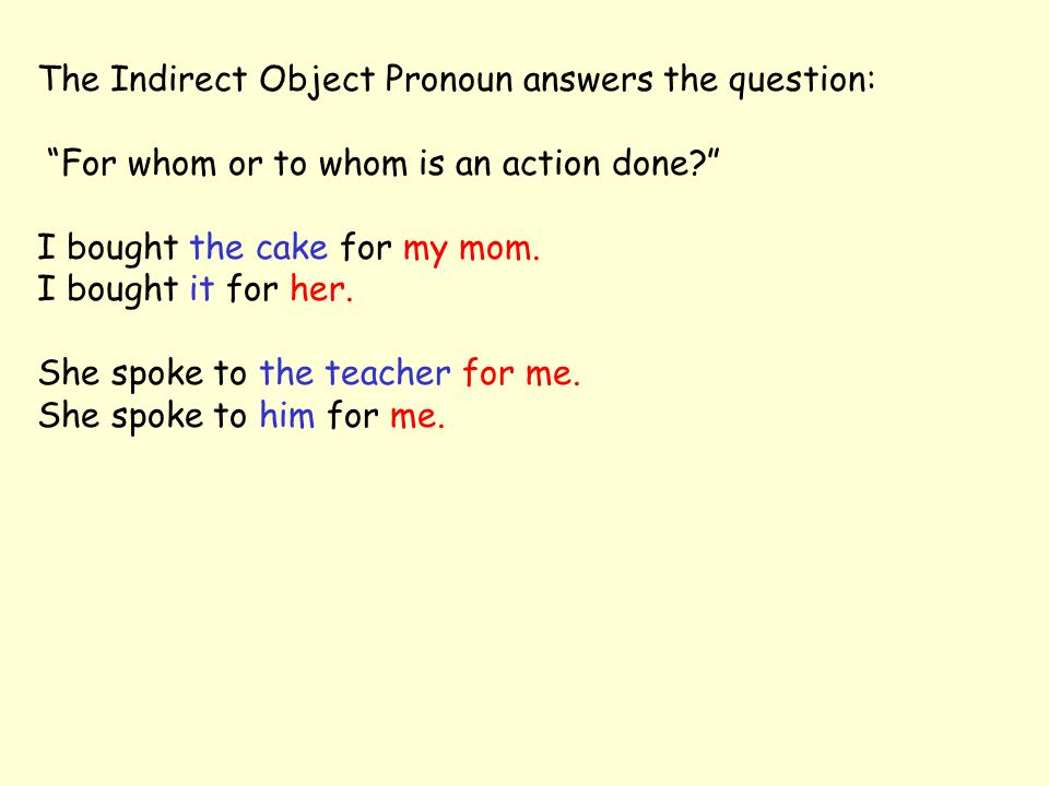 Notice the placement of the indirect object pronouns in a negative sentence in Spanish: Mi novio nunca me manda cartas.