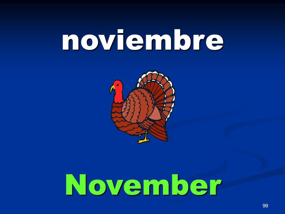 99 noviembre November