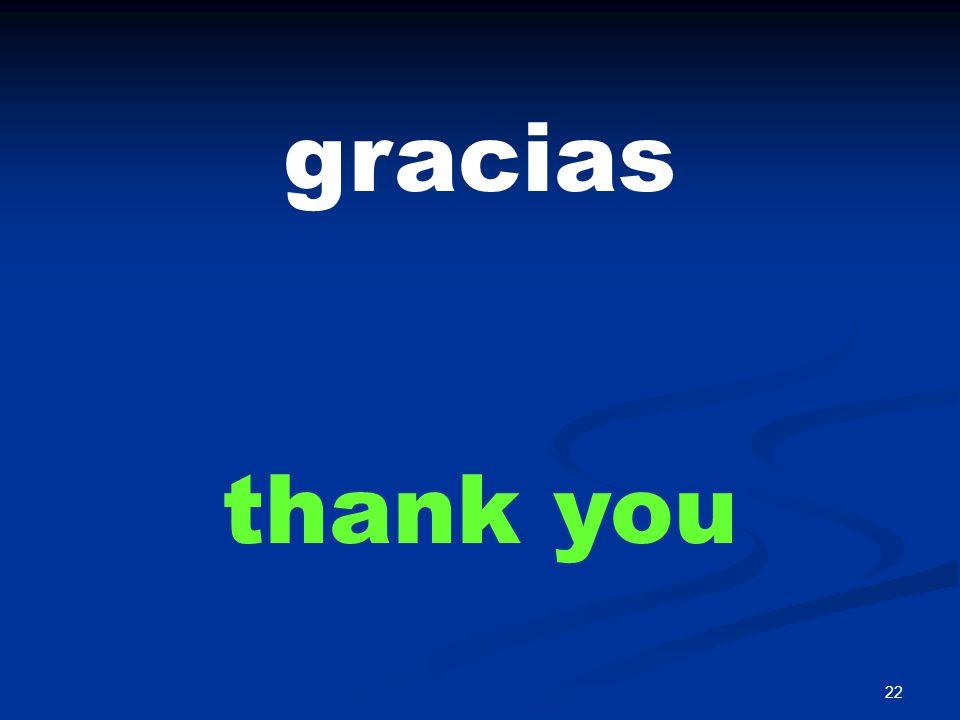 22 gracias thank you