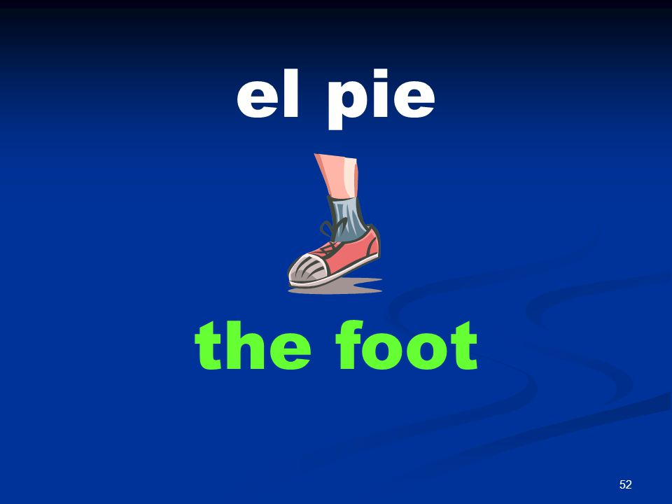 52 el pie the foot