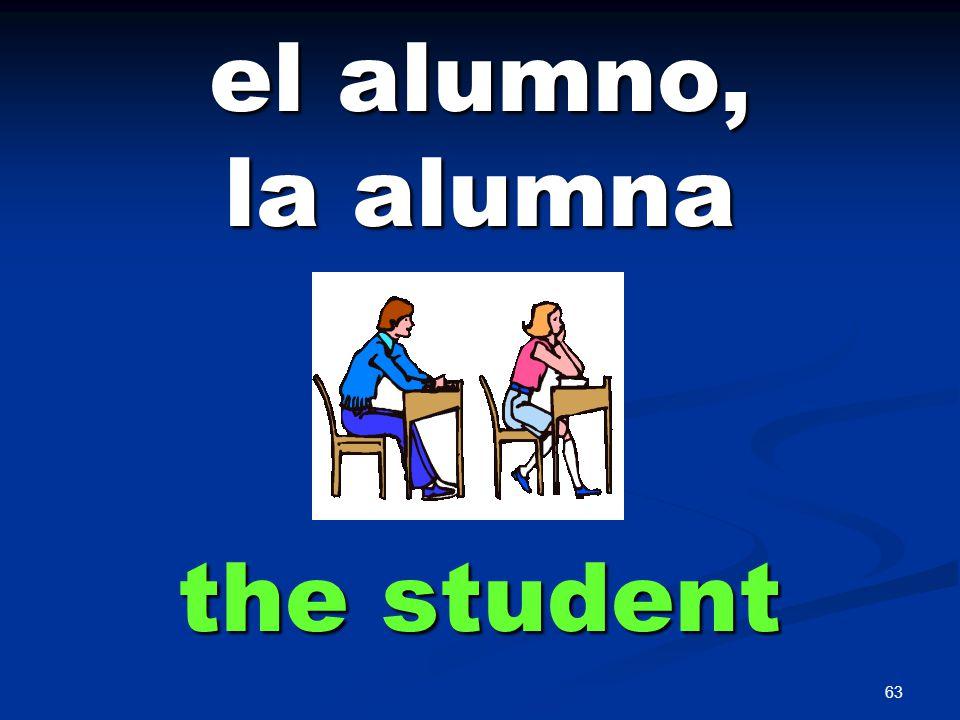 63 el alumno, la alumna the student