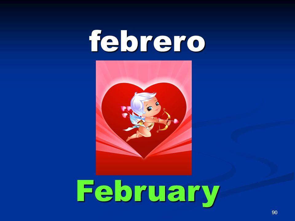 90 febrero February