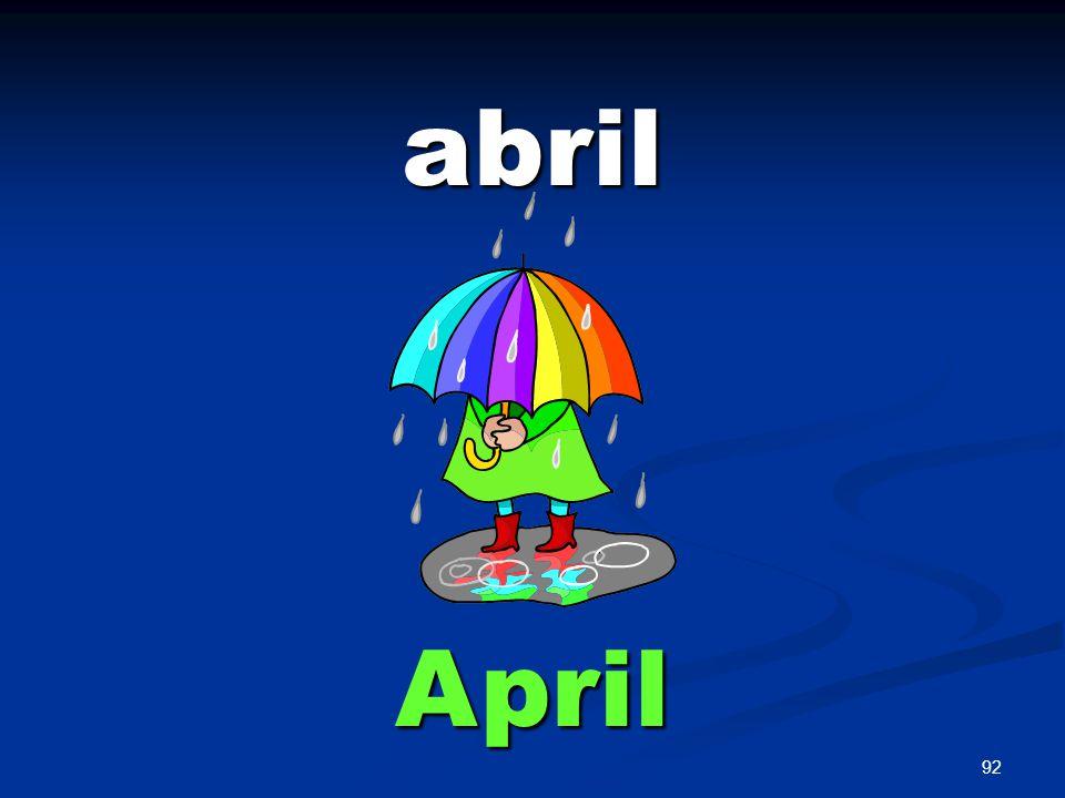 92 abril April