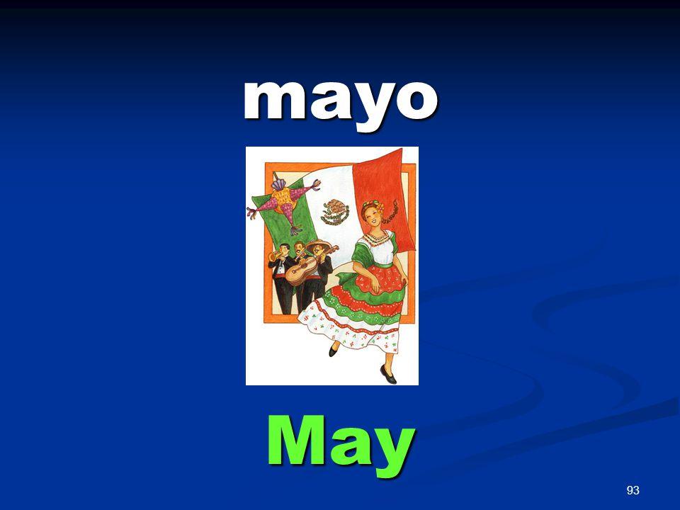 93 mayo May