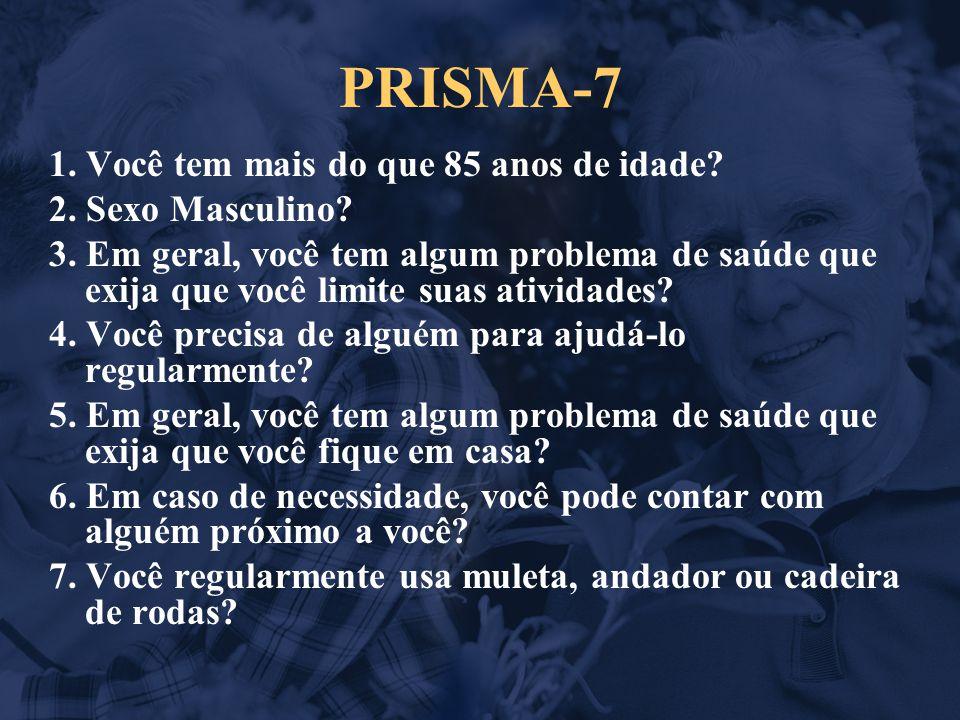 PRISMA-7 1. Você tem mais do que 85 anos de idade.