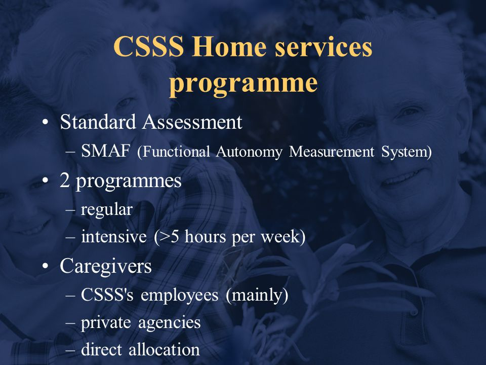 CSSS: Home services Medical (coll.with private prac.