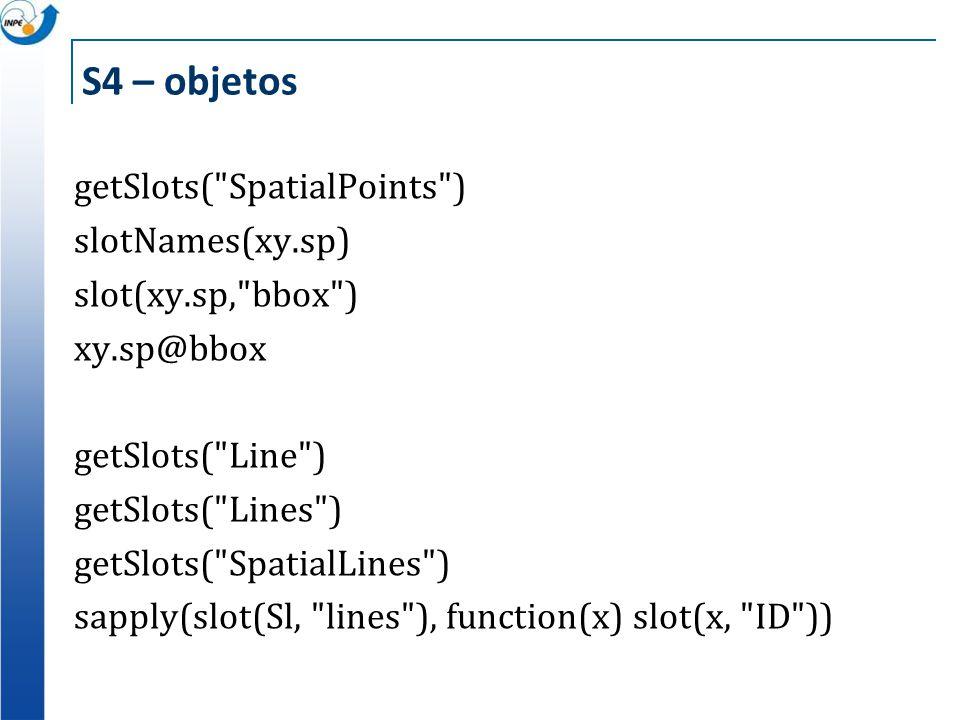 S4 – objetos getSlots(