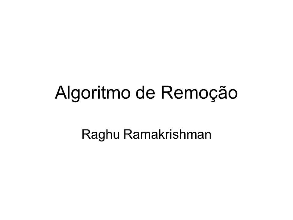 Algoritmo de Remoção Raghu Ramakrishman