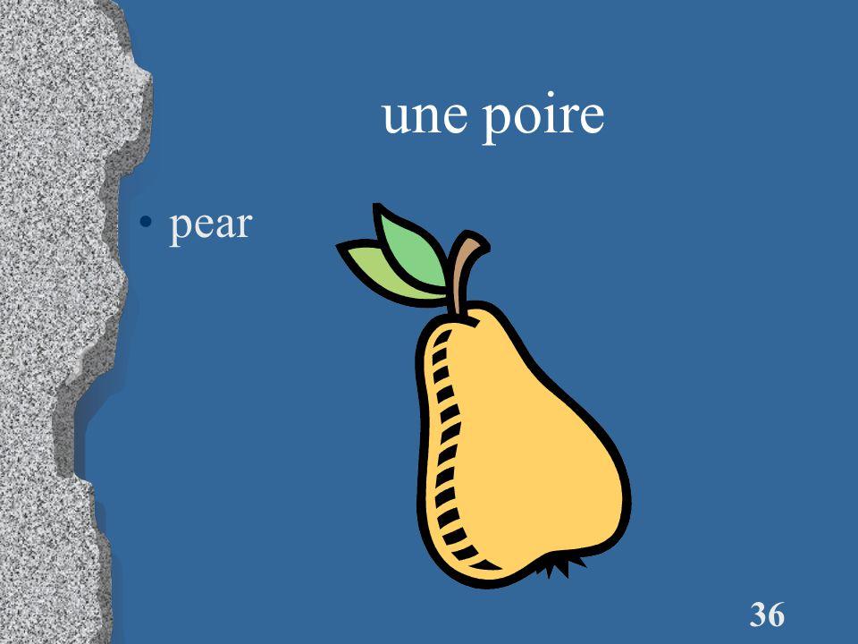35 des petits pois (m.) (green) peas