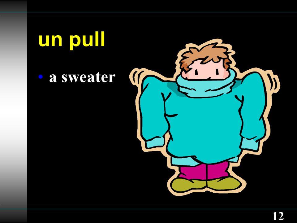 12 un pull a sweater