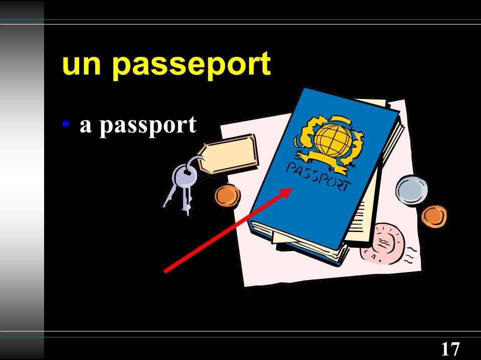 17 un passeport a passport