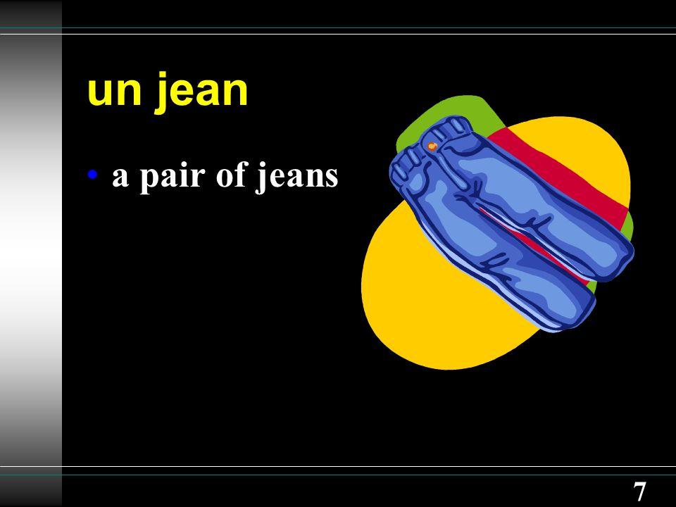 7 un jean a pair of jeans
