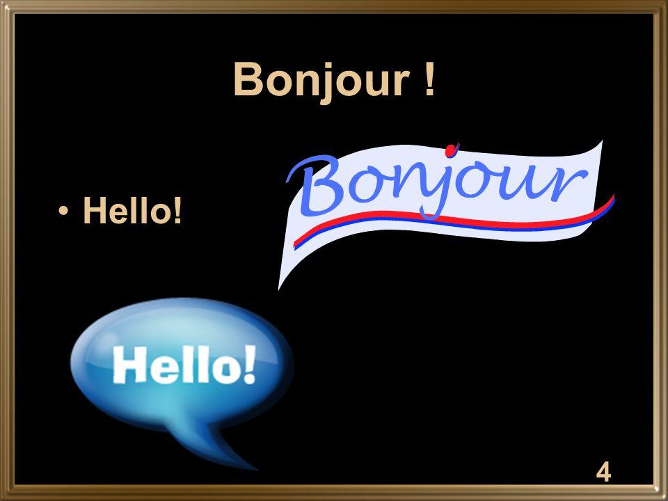 Bonjour ! Hello! 4