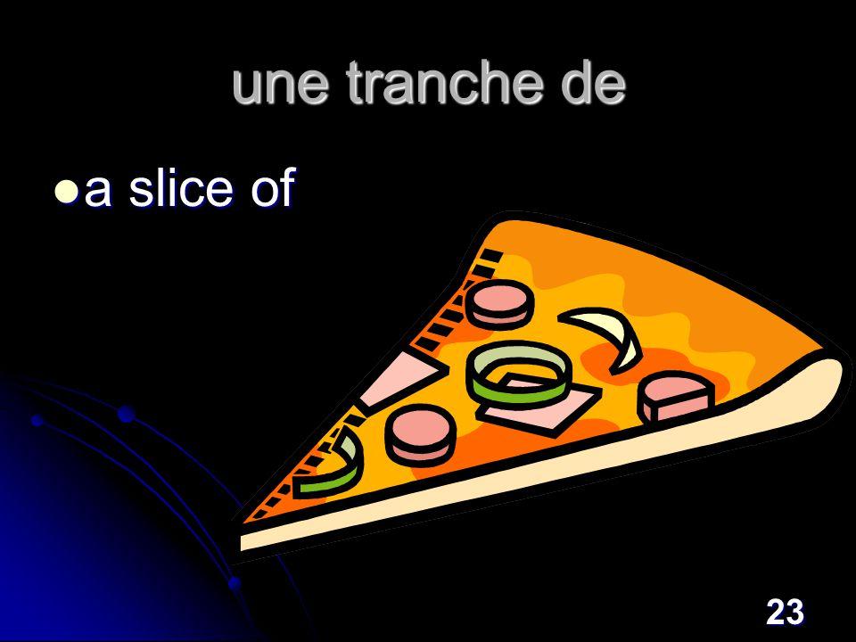 23 une tranche de a slice of a slice of