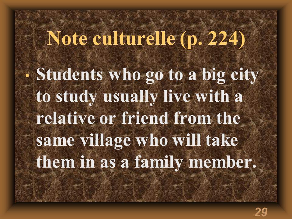 29 Note culturelle (p.