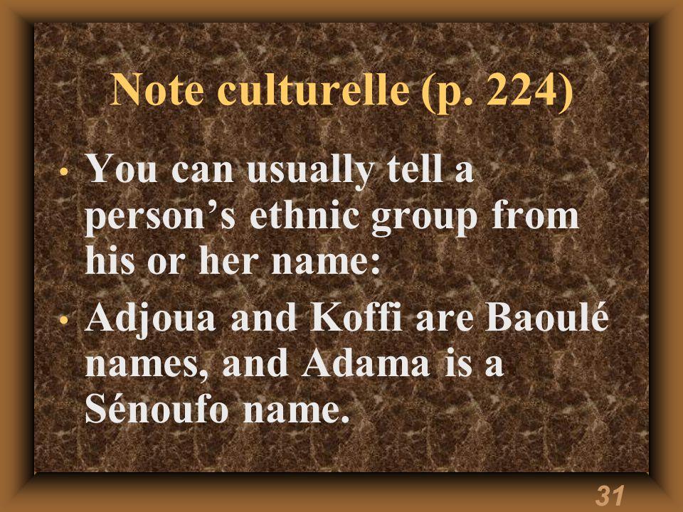 31 Note culturelle (p.