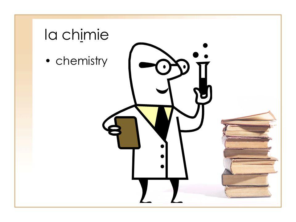 la chimie chemistry