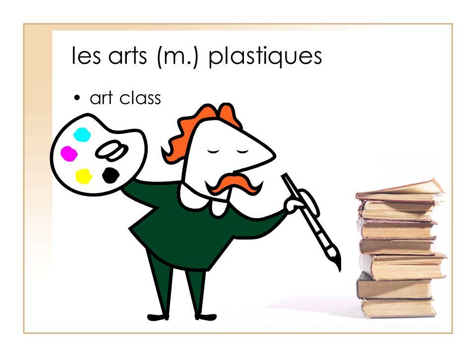 les arts (m.) plastiques art class