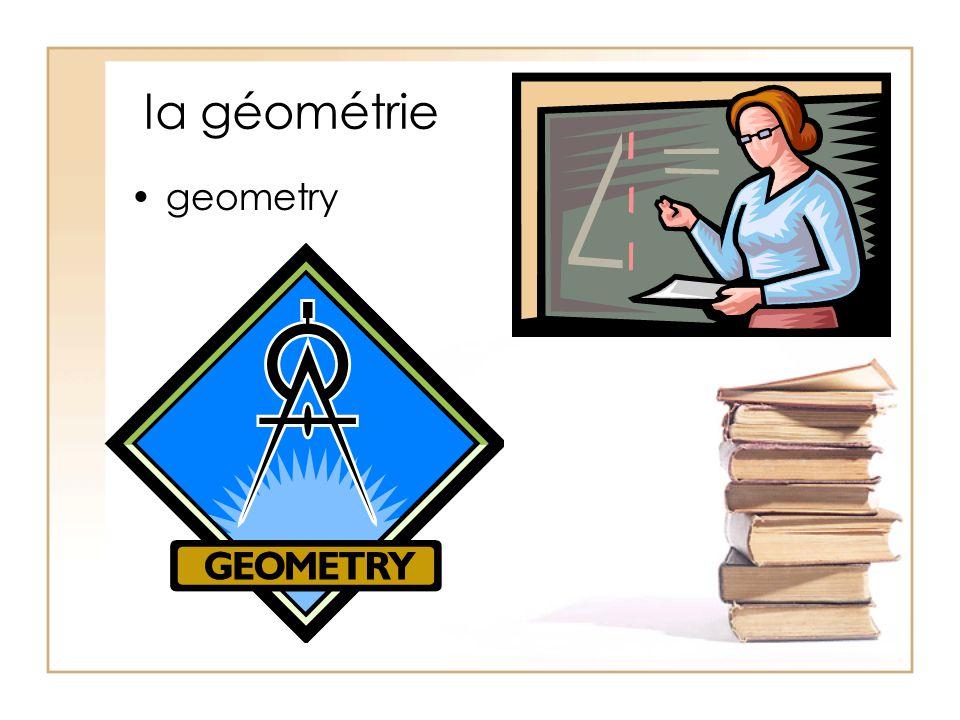 la géométrie geometry