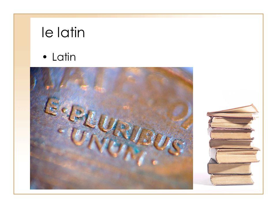 le latin Latin
