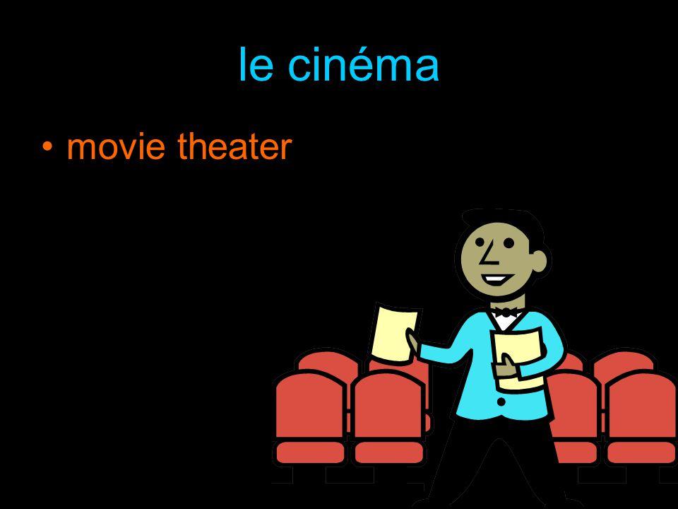 le cinéma movie theater