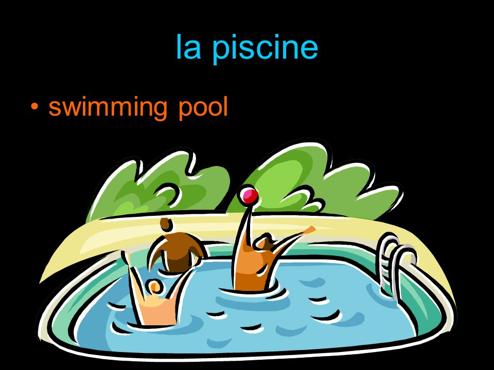 la piscine swimming pool