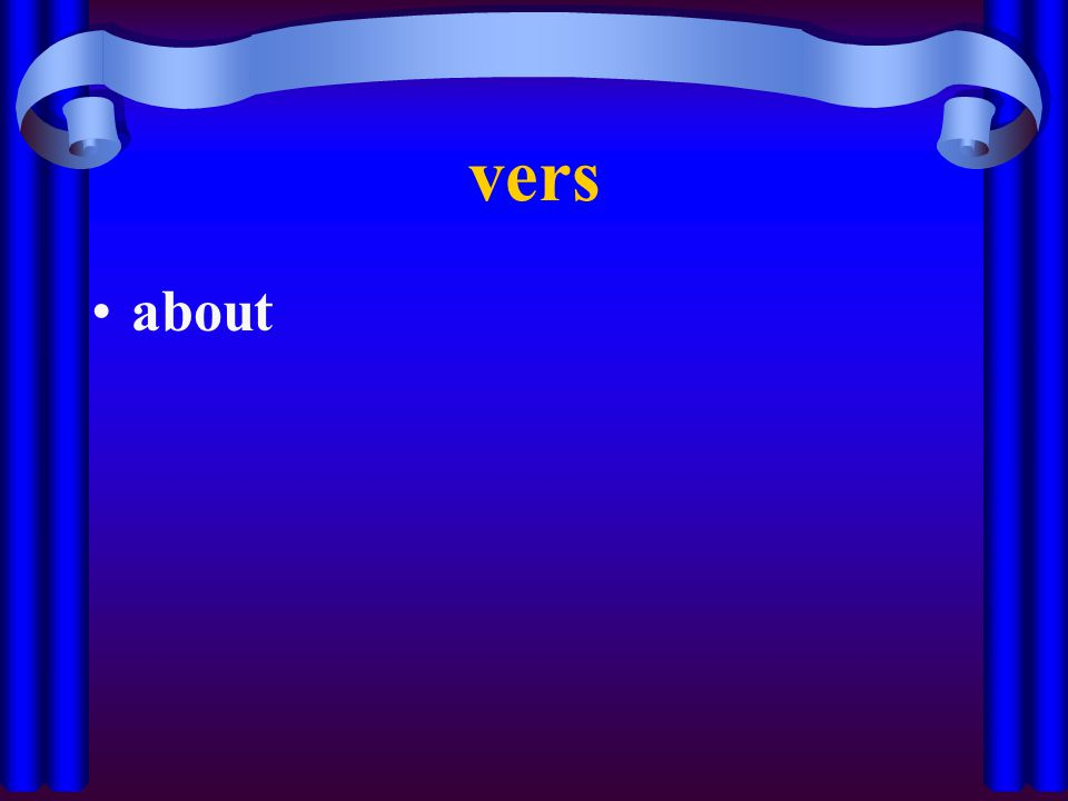 vers about