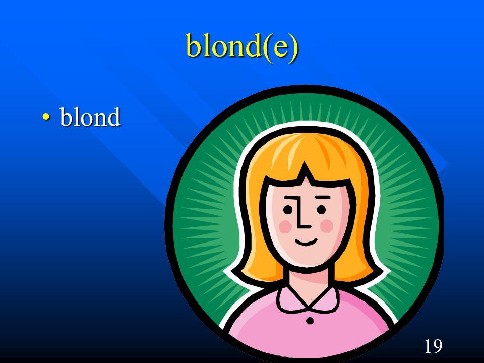 19 blond(e) blondblond