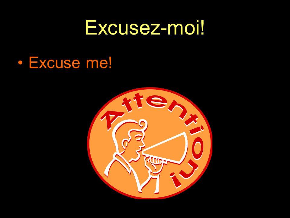 Excusez-moi! Excuse me!