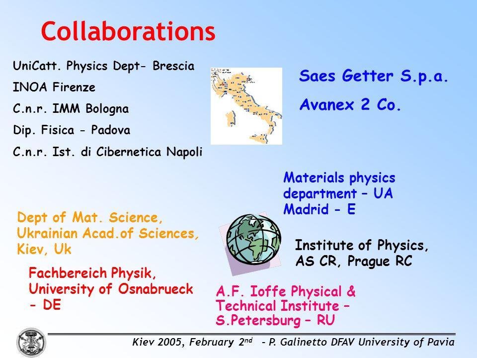 UniCatt.Physics Dept- Brescia INOA Firenze C.n.r.