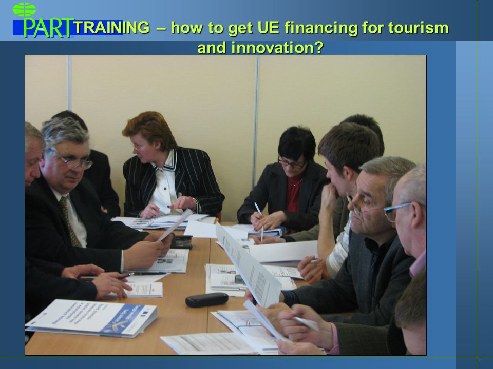 TRAINING – how to get UE financing for tourism and innovation
