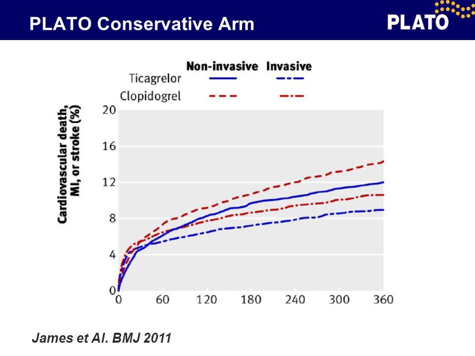 PLATO Conservative Arm James et Al. BMJ 2011
